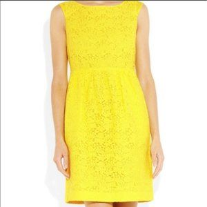 3/$20 J Crew Lucile Yellow Floral Lace Dress